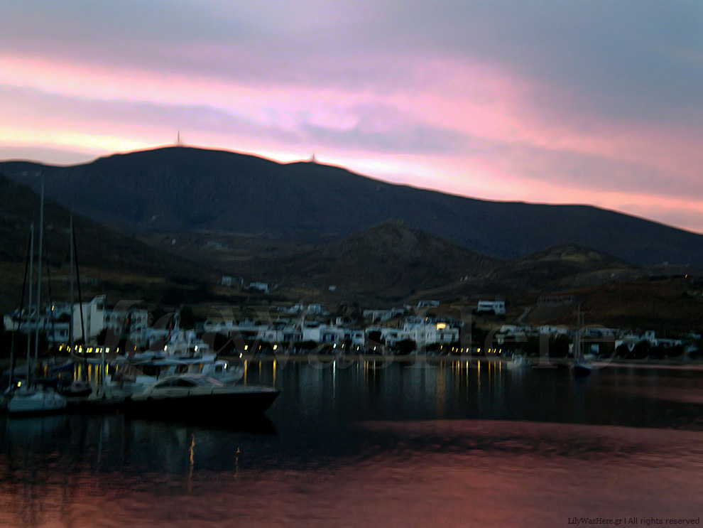 Sunset colors Serifos