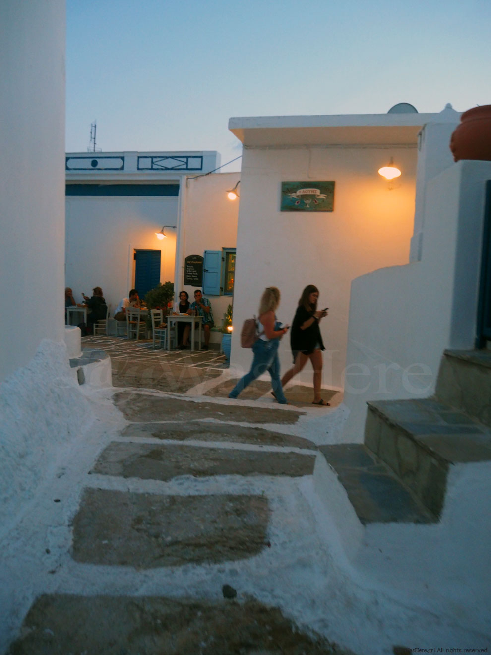 Serifos at night - Serifos mainland Greece