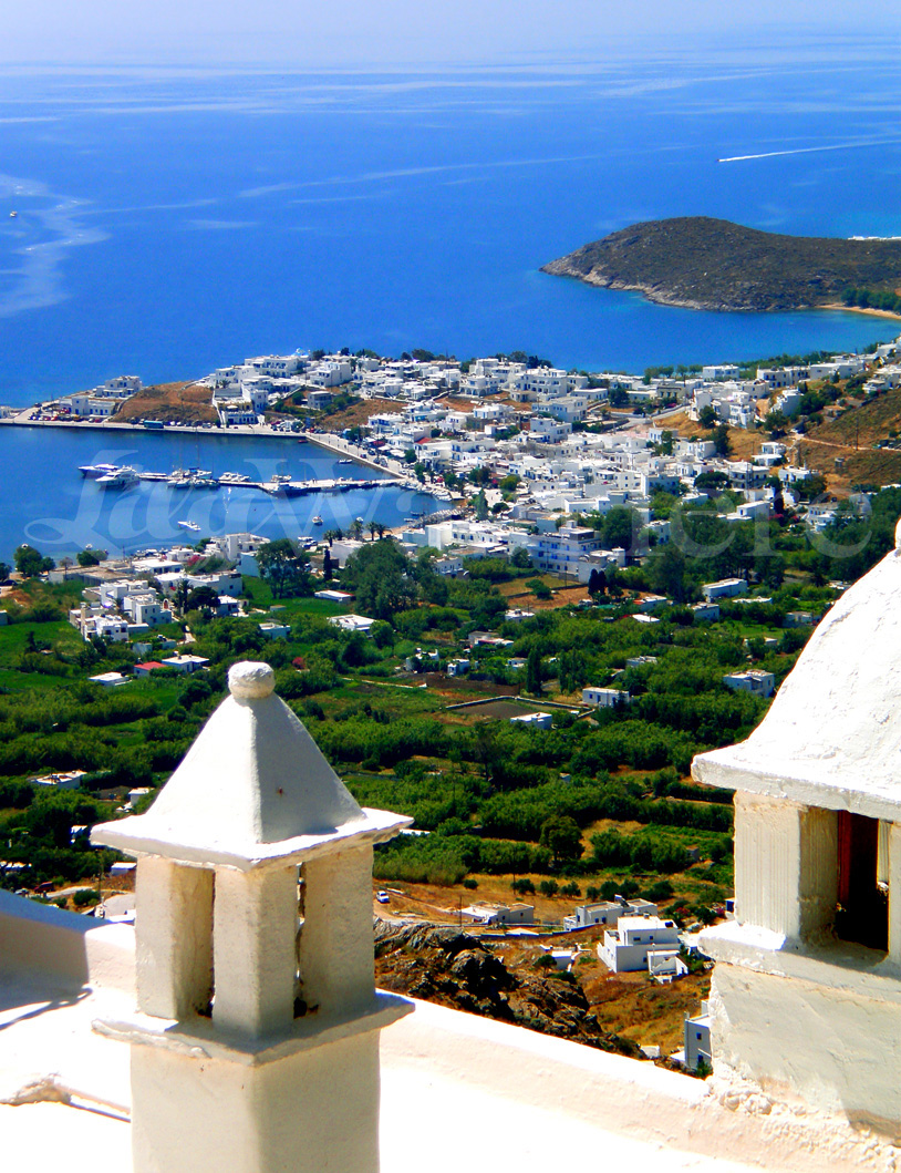 View from the Serifos Castle in Chora - Serifos Castle