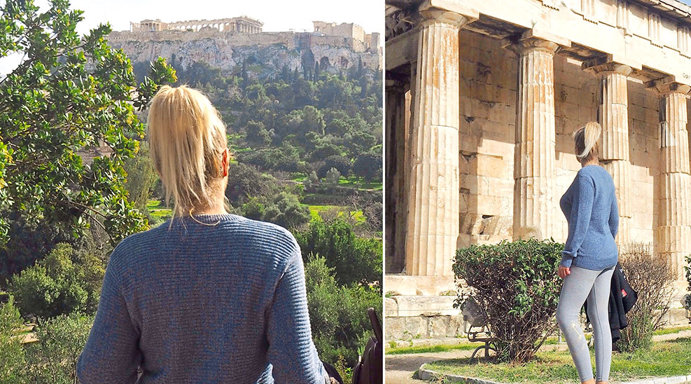 Acropolis Athens and the temple of Hephaestus
