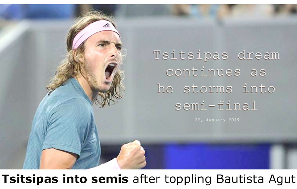 Tsitsipas to semi-final Australia open