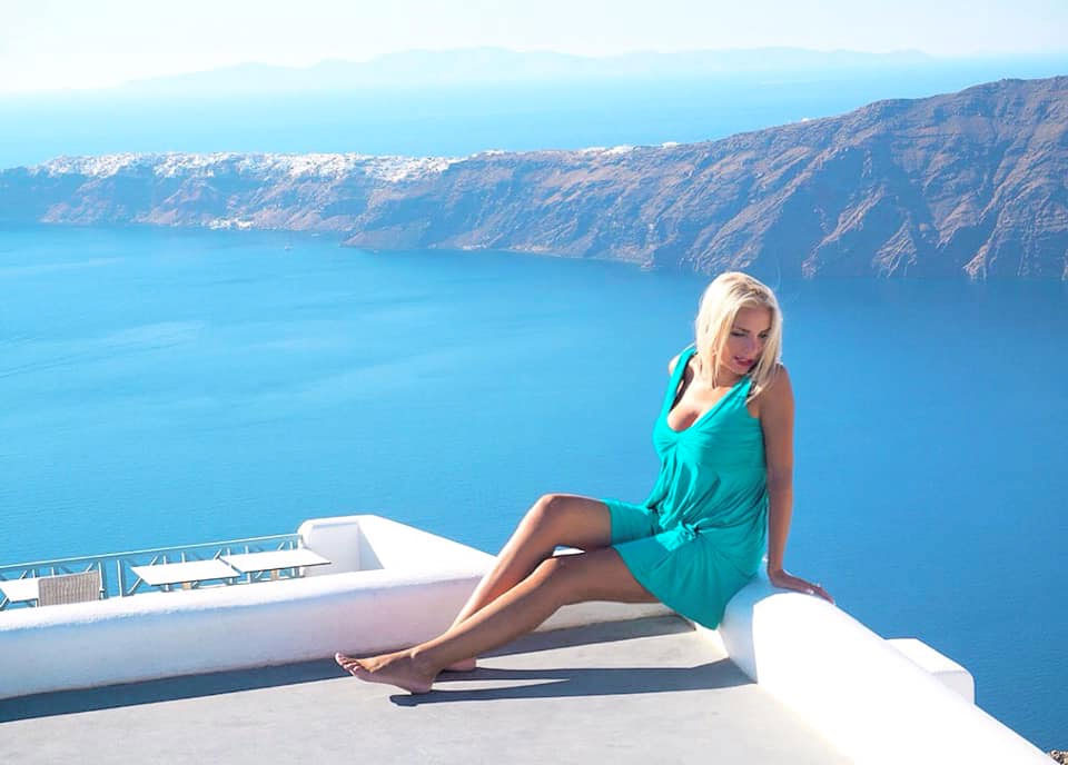 Travel in Santorini, Greece