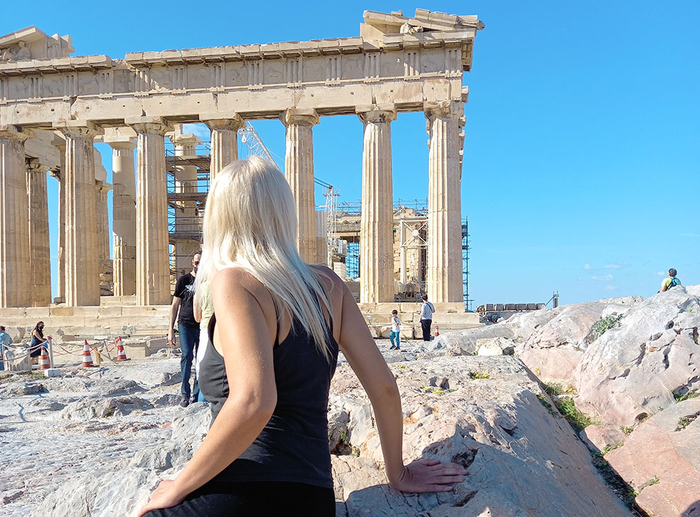 Visiting the Acropolis Athens Greece