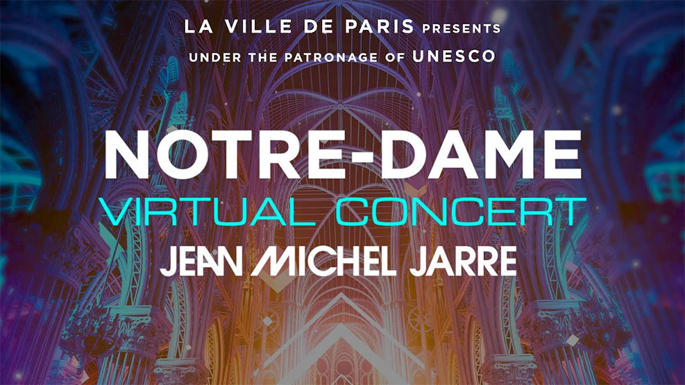 Jean-Michel Jarre VR Experience in Notre Dame Live 2021