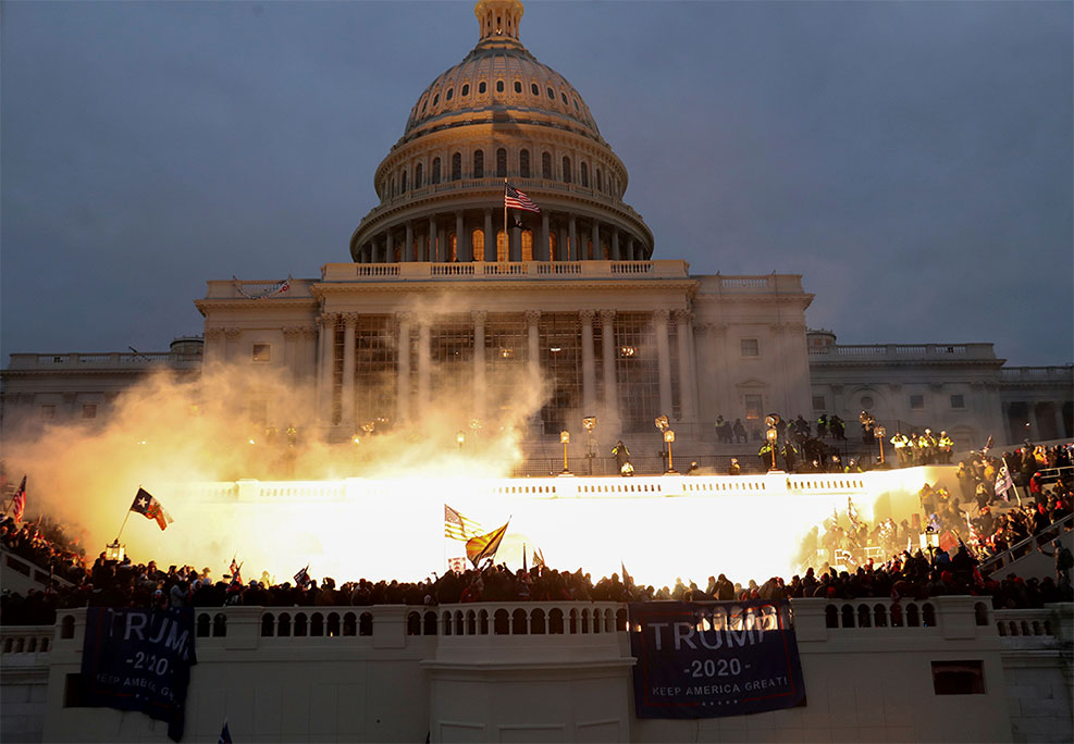 Flaming Capitol January 6, 2021