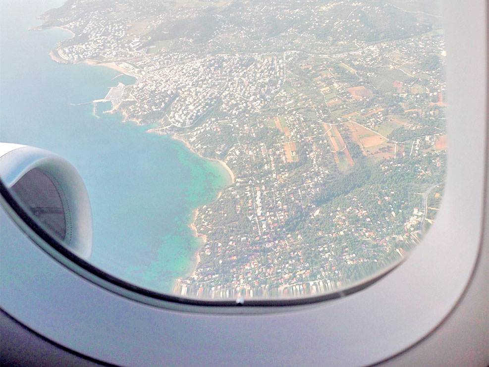 Airplane travel - Window's view