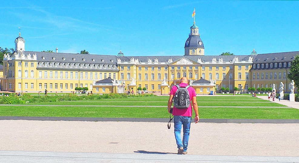 In front of Karlsruhe's Palace